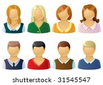 icons of office people | Shutterstock .eps vector #31545547