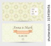 wedding invitation. vector... | Shutterstock .eps vector #315458456