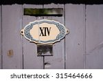 house number in roman numerals  ... | Shutterstock . vector #315464666