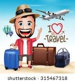 3d Realistic Tourist Man...