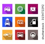 automobile and service flat... | Shutterstock . vector #315472292