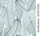 delicate skeleton leaves...   Shutterstock . vector #315472322