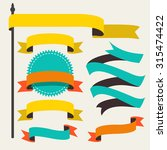 set of ribbons and banners.... | Shutterstock .eps vector #315474422