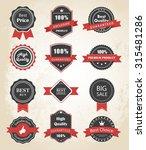 vector set of labels  banners ... | Shutterstock .eps vector #315481286