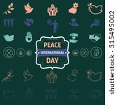 international peace day icons | Shutterstock .eps vector #315495002