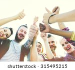 friends friendship like thumbs... | Shutterstock . vector #315495215