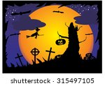 halloween background | Shutterstock .eps vector #315497105