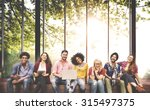 diversity teenagers friends...   Shutterstock . vector #315497375