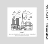 paris city line vector... | Shutterstock .eps vector #315497432