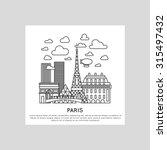 paris city line vector... | Shutterstock .eps vector #315497432