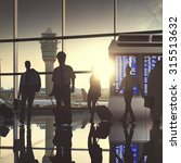 business people airport... | Shutterstock . vector #315513632
