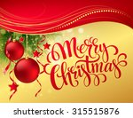 christmas greeting card. vector ... | Shutterstock .eps vector #315515876
