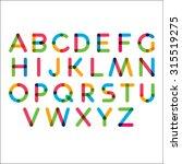 marker letters. alphabet. | Shutterstock .eps vector #315519275