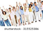 large people celebrating... | Shutterstock . vector #315525386