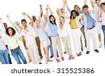 large people celebrating... | Shutterstock . vector #315525386