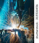 robot welding movement... | Shutterstock . vector #315533456