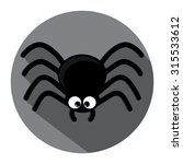 spider icon with shadow . flat...
