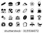 breakfast vector icon set... | Shutterstock .eps vector #315536072