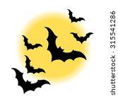 vector halloween night moon... | Shutterstock .eps vector #315541286