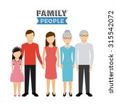 family people design  vector... | Shutterstock .eps vector #315542072