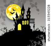 moon halloween castle... | Shutterstock .eps vector #315545228