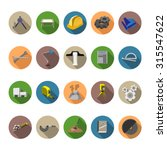 engineering icons set in flat... | Shutterstock .eps vector #315547622