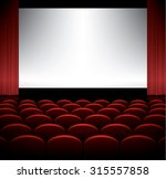 cinema auditorium with seats... | Shutterstock .eps vector #315557858