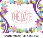 save the date party card sign...   Shutterstock .eps vector #315558452