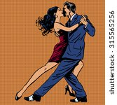 A Man And A Woman Kiss Dance...