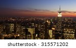 manhattan evening skyline... | Shutterstock . vector #315571202