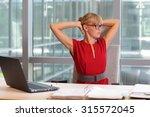 caucasian business woman in... | Shutterstock . vector #315572045
