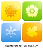 four season buttons. | Shutterstock .eps vector #31558669