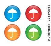 umbrella icon. eps 10 glossy...