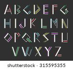 modern alphabetic fonts | Shutterstock .eps vector #315595355
