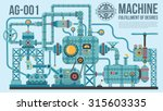 a complex industrial machine of ... | Shutterstock .eps vector #315603335