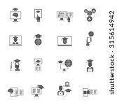 online education digital... | Shutterstock . vector #315614942