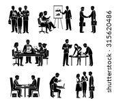 teamwork icons black set with... | Shutterstock . vector #315620486