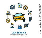car service concept with auto... | Shutterstock . vector #315620786
