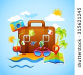 vacation and tourism concept... | Shutterstock . vector #315621245