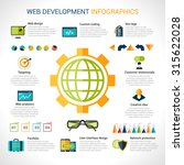 web development infographics... | Shutterstock . vector #315622028