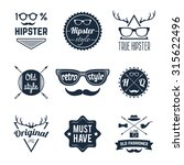 hipster old retro style... | Shutterstock . vector #315622496