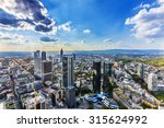 view to skyline of frankfurt... | Shutterstock . vector #315624992