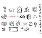 illustration vector doodles... | Shutterstock .eps vector #315626222