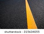 Asphalt Road With Separation...