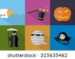 halloween icons | Shutterstock .eps vector #315635462