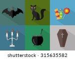halloween icons | Shutterstock .eps vector #315635582