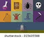 halloween icons | Shutterstock .eps vector #315635588