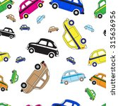 simple seamless pattern cars.... | Shutterstock .eps vector #315636956