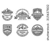 adventure vintage badge | Shutterstock .eps vector #315637832