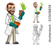 high quality plant scientist... | Shutterstock .eps vector #315638828